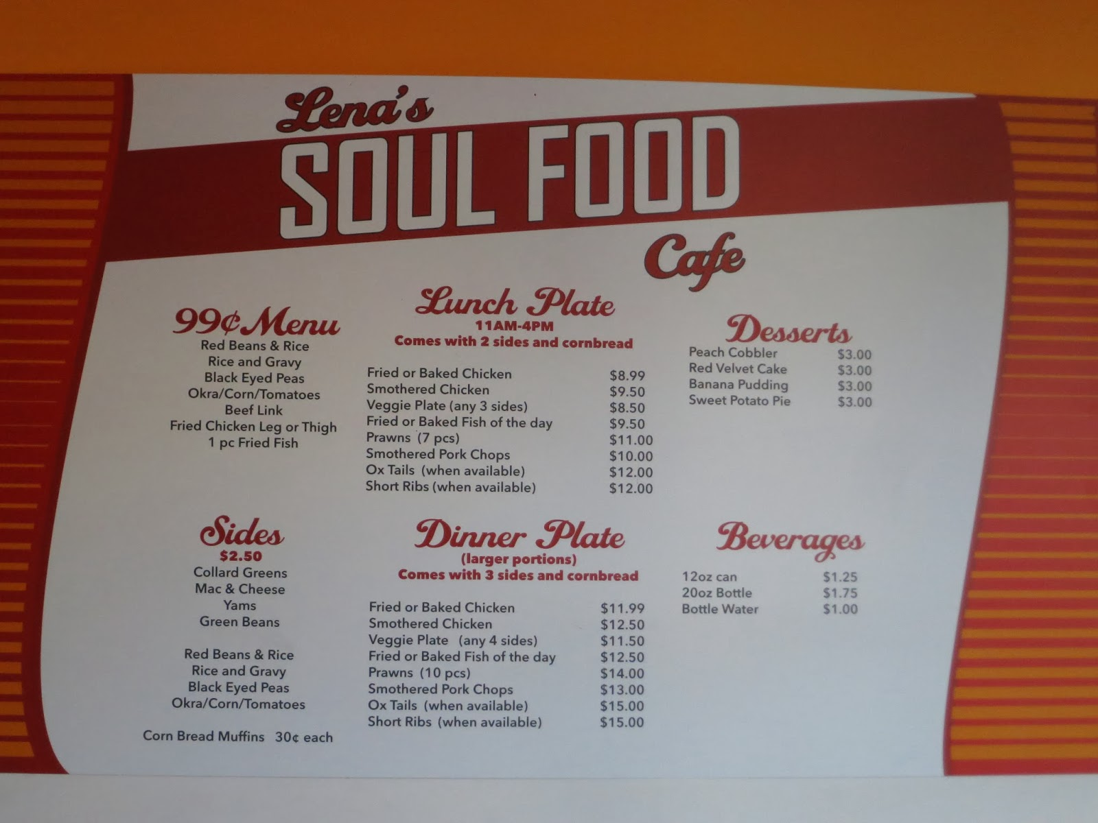 Soul Food Menu Templates Pictures To Pin On Pinterest