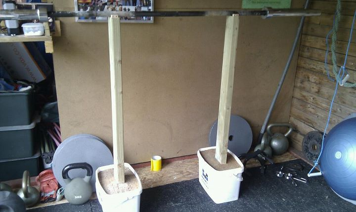 Office gym what would you include singletrack magazine for Diy squat stands
