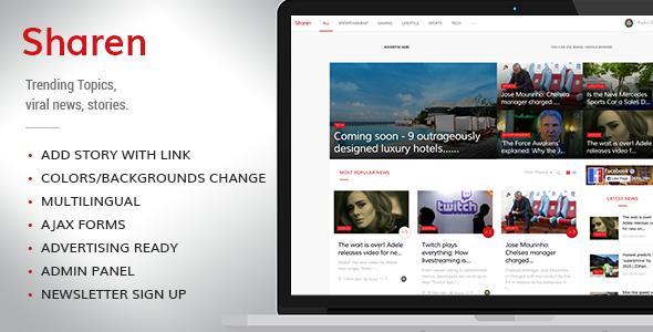 Sharen v2.0 – Trending Topics, viral news, stories
