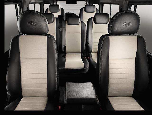 семь мест, сидений в авто Land Rover Defender 2012