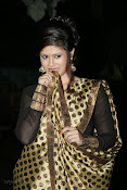 Anchor Shila Chakravarthy latest black saree Photos-thumbnail-12