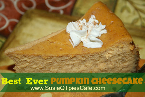 susieqtpies cafe best ever pumpkin cheesecake recipe yum