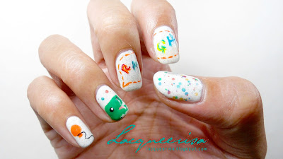 Lacqueerisa: Dino-Birthday Nails!