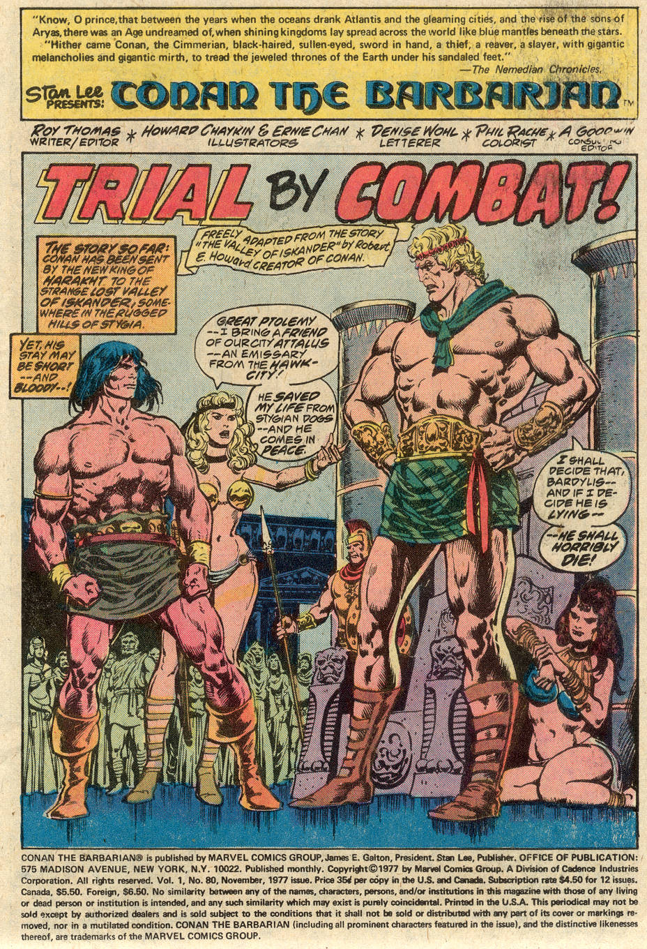 Conan the Barbarian (1970) Issue #80 #92 - English 2