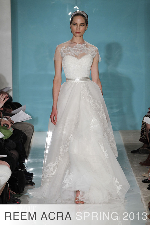 Reem Acra Spring 2013 Wedding Dresses Show The Fashion