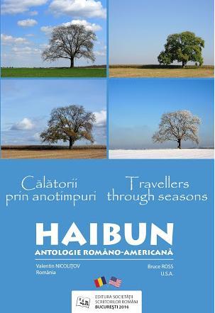 Coperta Antologiei româno-americane de haibun