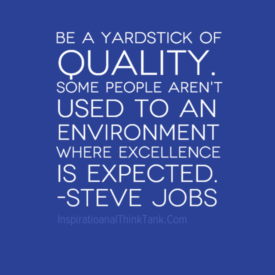 be a yardstick of quality some people aren t used to an