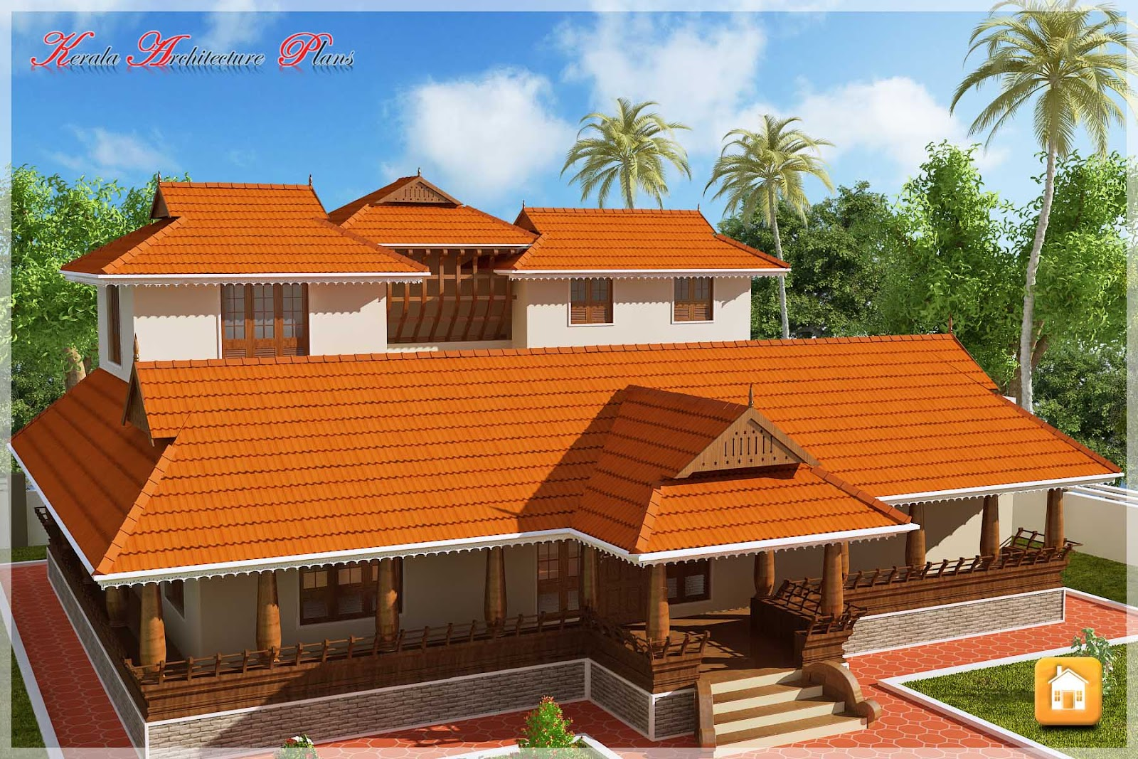 Beautiful traditional nalukettu model kerala house plan for Indian traditional house plans