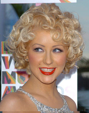 Christina Aguilera Perfect Pin Up Hairstyle.