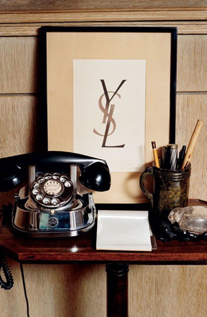 Yves Saint Laurent apartment details at Rue Babylon