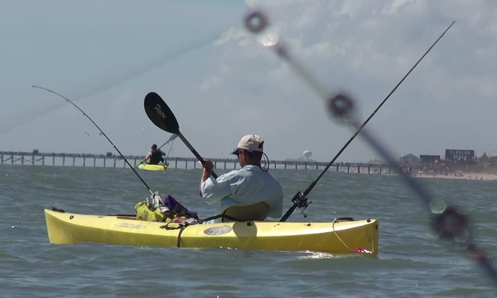 Kayak angling for big fish kayak surf fishing report 7 21 12 for Fishing kayak for big guys