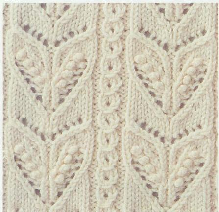 Lace and Solid Diamonds - Knittingfool Stitch Detail Images - Frompo