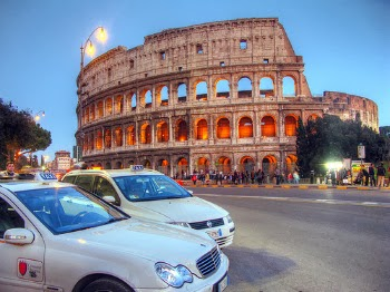 Taxis in Rome, Italy