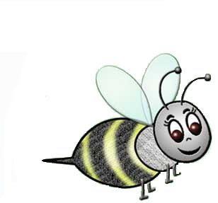 Desenhos de abelhas para colorir