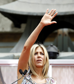 Jennifer Anniston's hands.