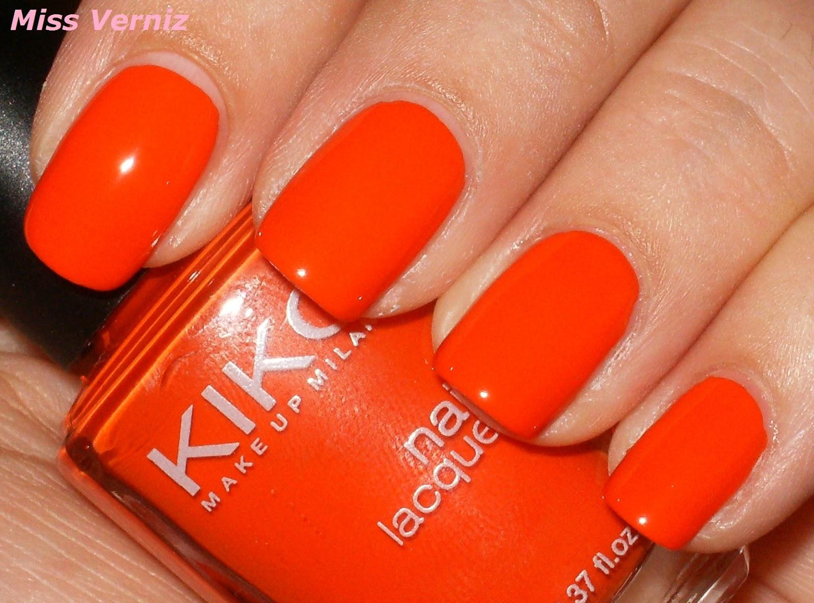 miss verniz kiko numero 357 bright orange. Black Bedroom Furniture Sets. Home Design Ideas