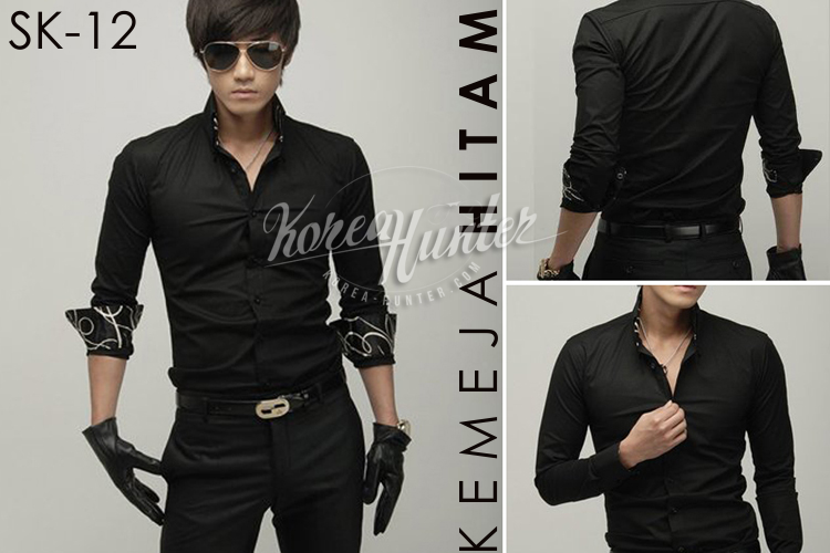 KOREA-HUNTER.com jual murah Kemeja Hitam Korea Style | kaos crows zero tfoa | kemeja national geographic | tas denim korean style blazer