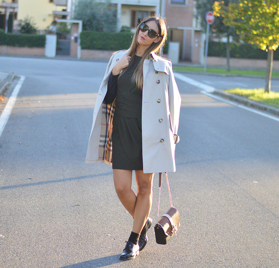 Trenchcoat, Burberry Outfit, Burberry Fashionblogger, Zara, Zara Dress, Givenchy Obsedia, Givenchy Bag, Burberry Outfit, Fashion Blogger