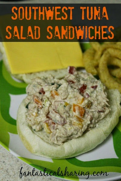 Southwest Tuna Salad Sandwiches | Amp up that boring old tuna salad recipe with this southwest twist! #tuna #sandwich #recipe