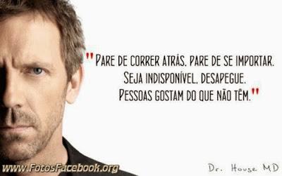 Frases de Dr House para o Facebook