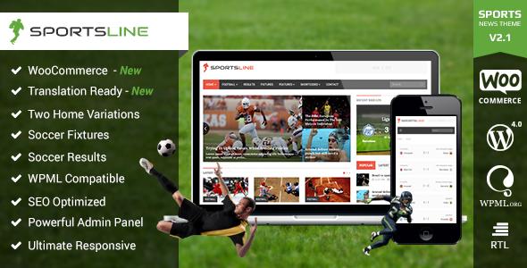 Download Free Sportsline Responsive WordPress Sports News Theme