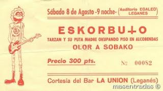 entrada de concierto de eskorbuto