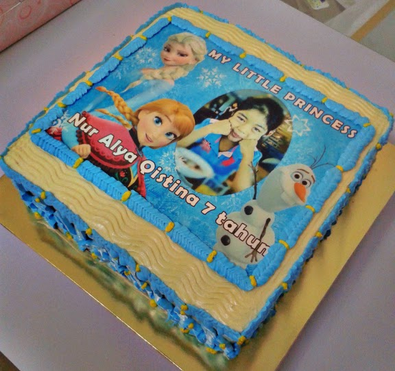 Edible Cake Images Custom : Frozen Birthday Cake With Custom Edible Image Muffin ...