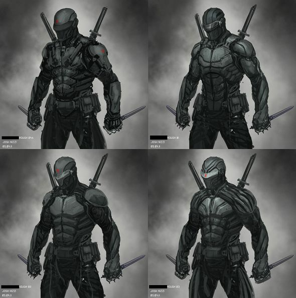 Josh Nizzi illustrations concept arts moviesG.I.Joe Retaliation - Snake Eyes and Storm Shadow