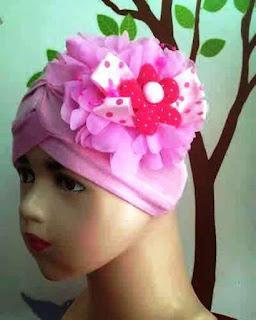 Model Turban Pita Bunga Untuk Bayi