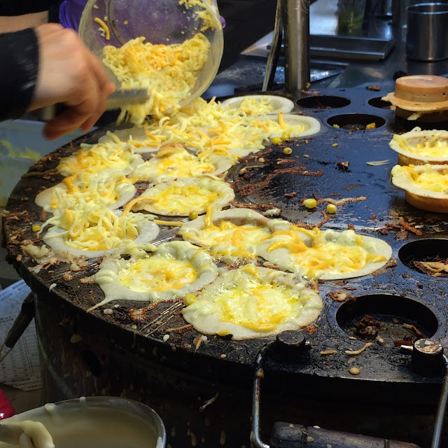 Custard and cheese pancakes Taipei night market | Cheesy Pennies