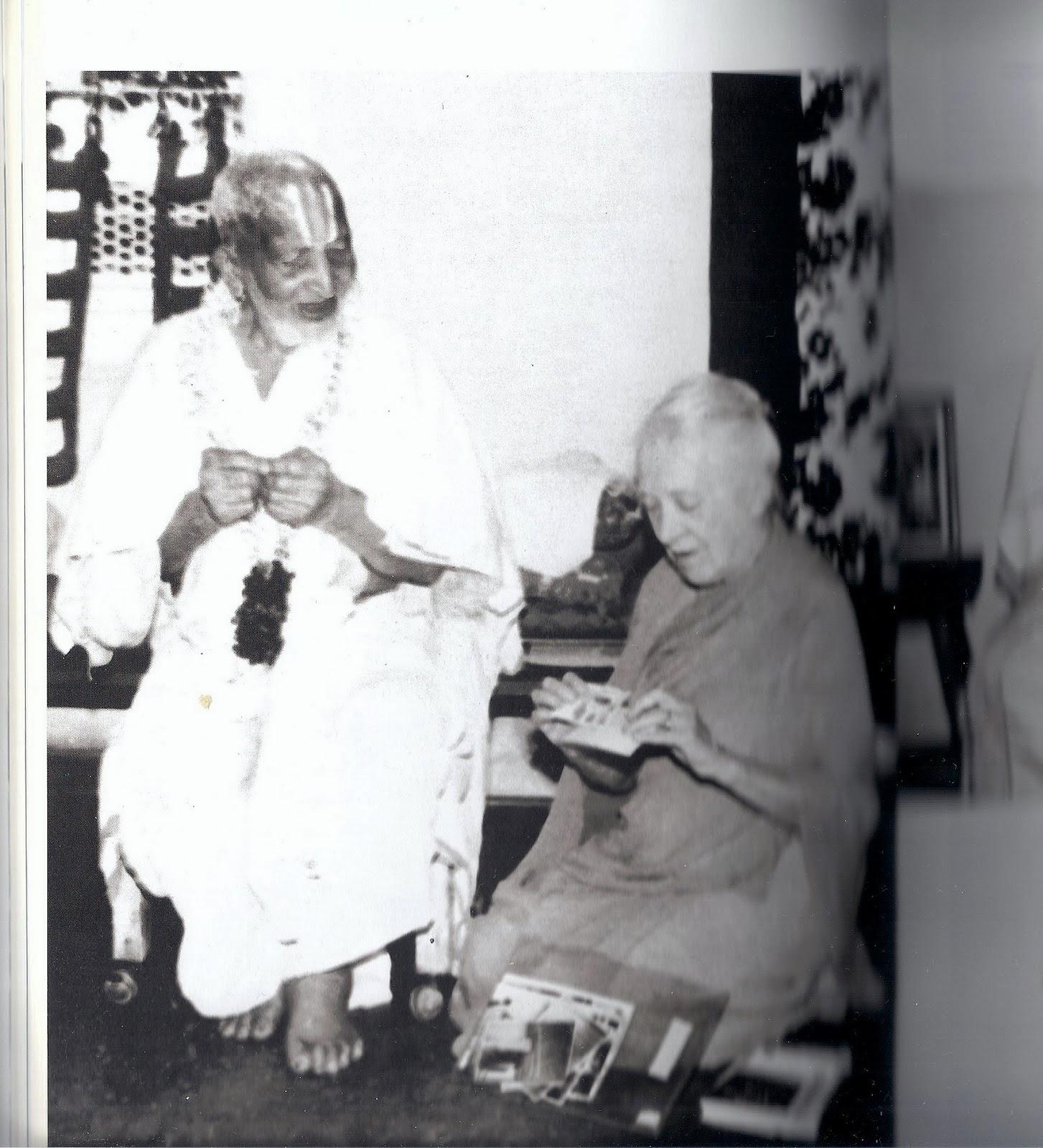 Krishnamacharya con Indra Devi