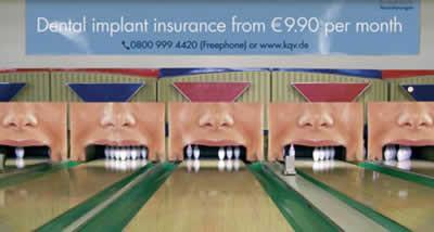 Funny Dental care advertisement illusion