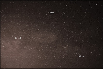 milky way in summer triangle