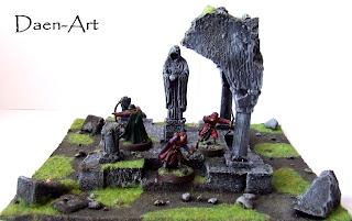 Ruiny kaplicy makieta do gier bitewnych