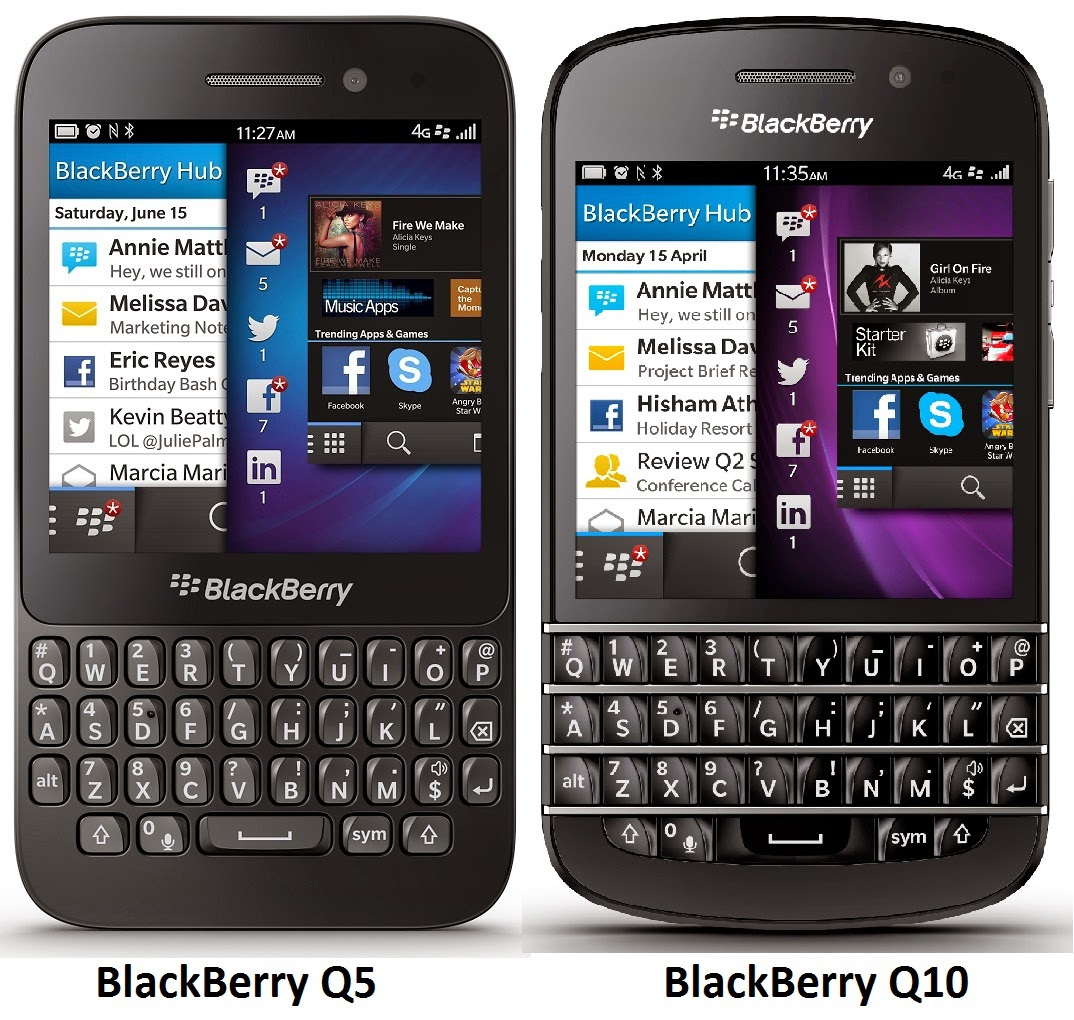 BlackBerry Q5 vs BlackBerry Q10