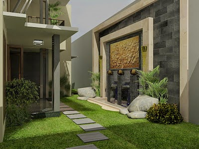 desain taman di dalam rumah 3