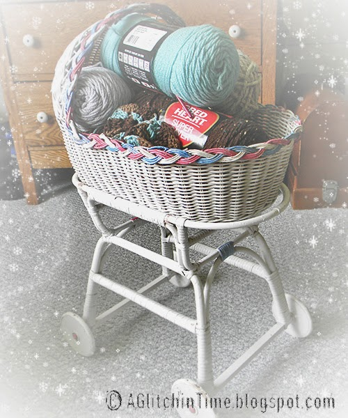 Yarn filled Baby Buggy