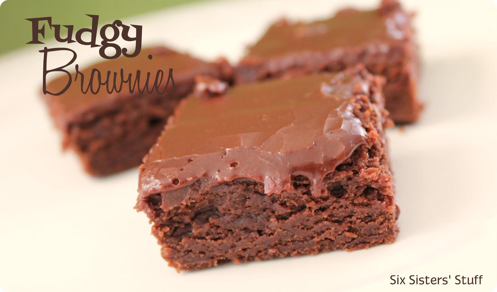 Fudgy Brownies Recipe | Six Sisters' Stuff
