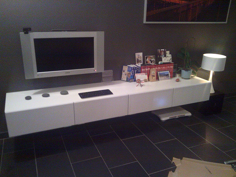 minimalistic floating tv unit ikea hackers ikea hackers
