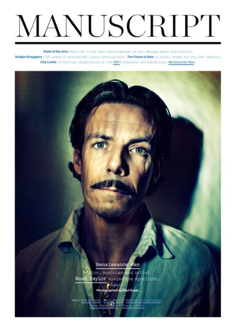 Noah Taylor by Paul Scala for Manuscript Magazine