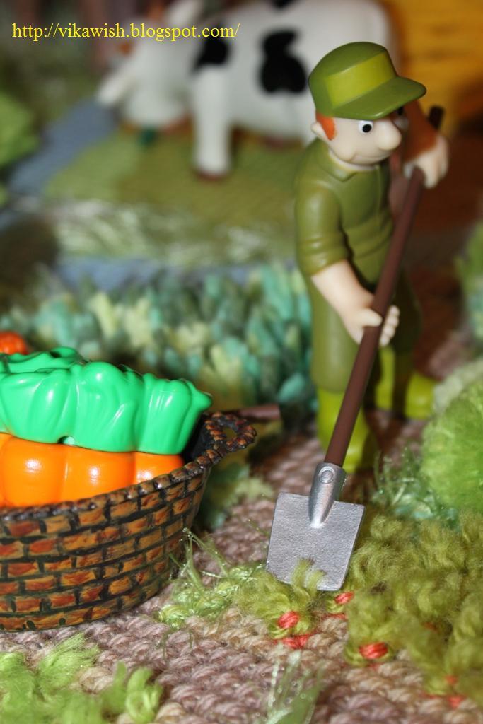 Животные на Ферме №8: рабочий фермы, инструменты