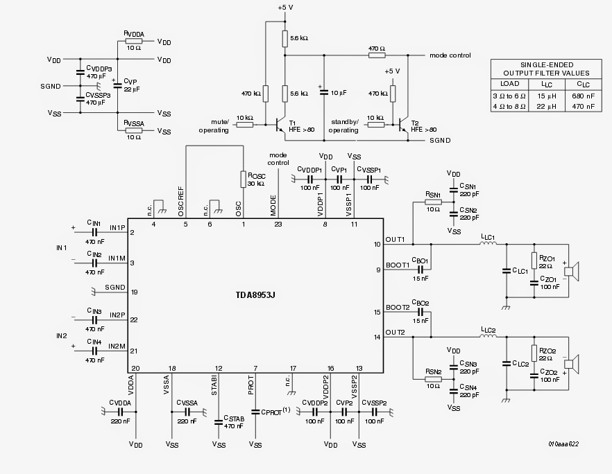 wireless home theater circuit using bluetooth headset electronic each of the inputs of the above shown class d amplifier could be directly configured the cut stripped speaker wires of a scavenged bluetooth headset