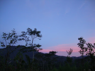 Pemandangan menjelang sore di Bali