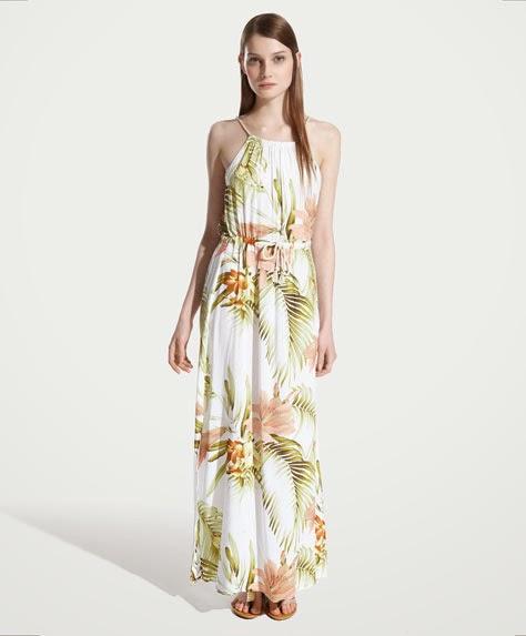 vestido largo oysho