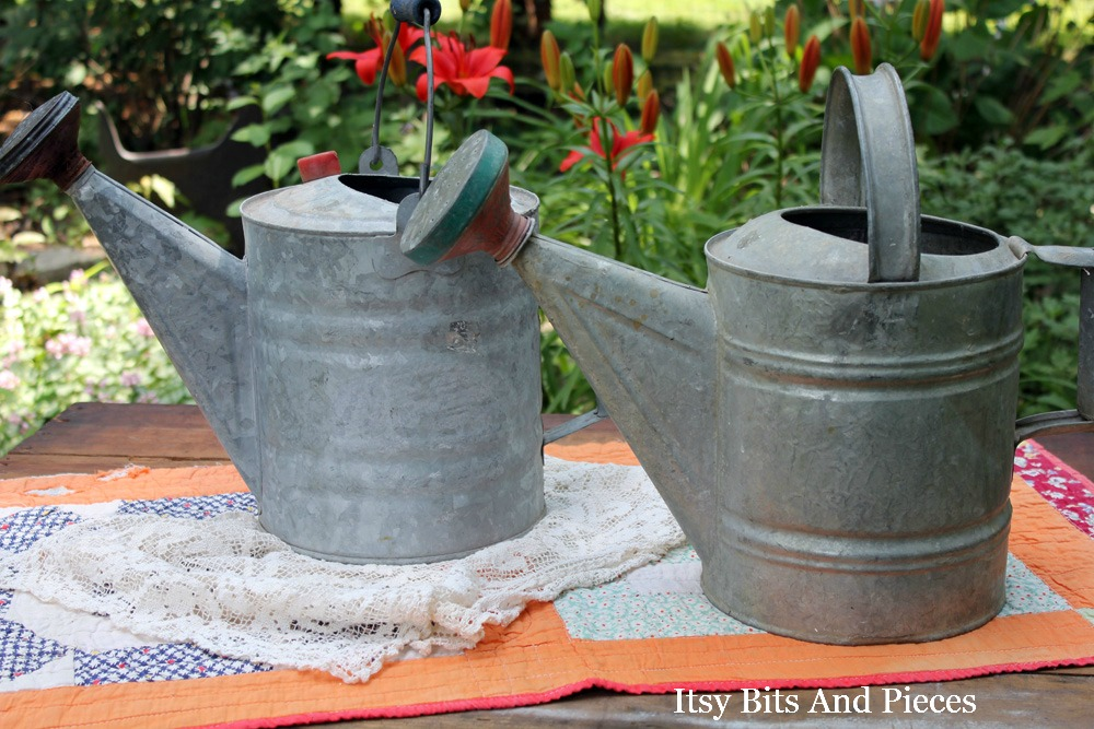Vintage watering cans itsy bits and pieces - Sprinkling cans ...