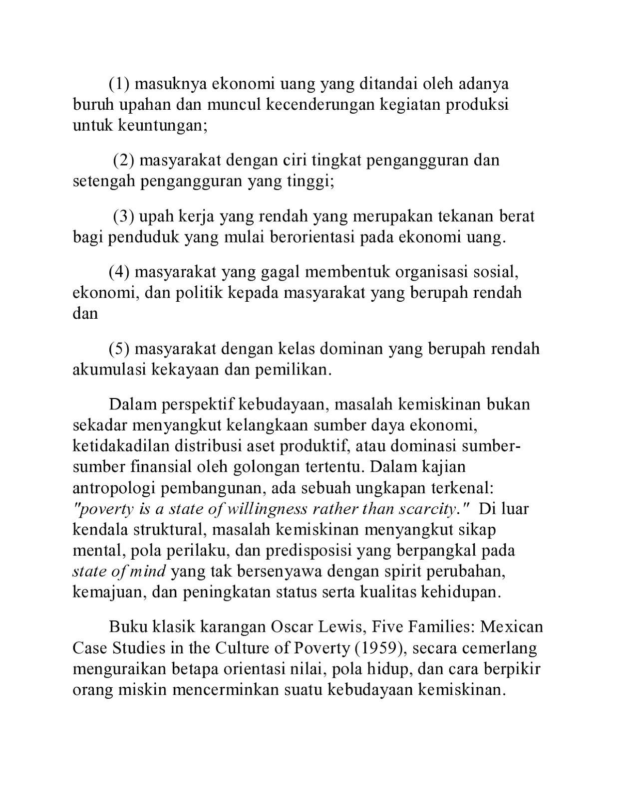peksos bambang rustanto teori budaya kemiskinan teori budaya kemiskinan