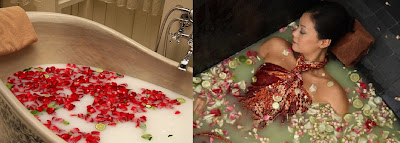 Herbal Bath for Relaxation in Hot Summer