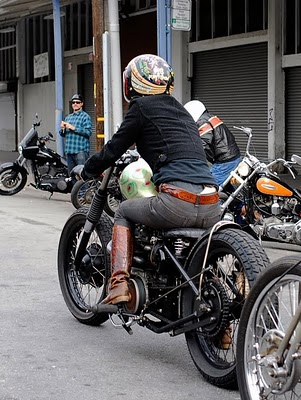 Heres Lil Sara And Her Triumph Bobber Check Out More Shots Of