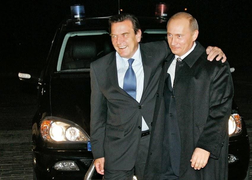 Gerhard Schröder und Vladimir Putin