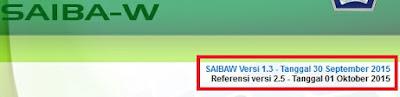 Update SAIBA-W Versi 1.3
